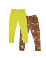 Girls Heart Grid 2-Pack Leggings -  assorted