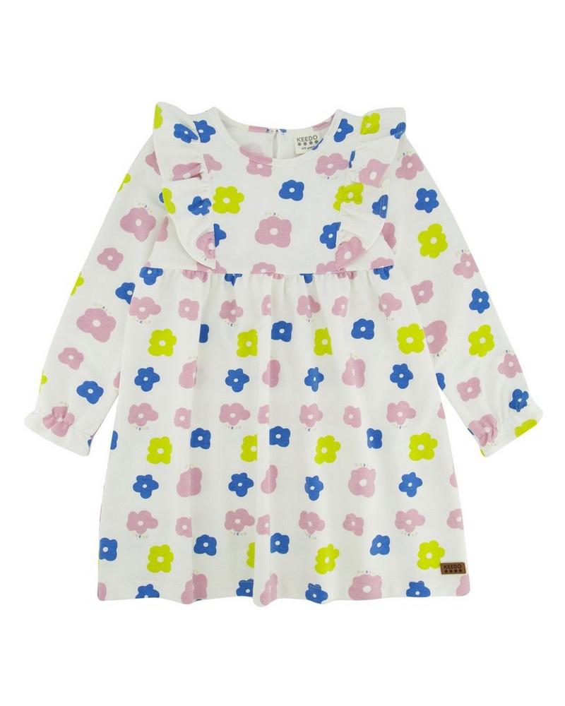 Girls Kaia Dress  -  milk