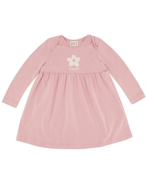 Baby Girls Flower Dress Set -  dustypink