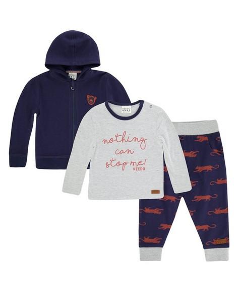 Baby Boys Davis Set  -  navy