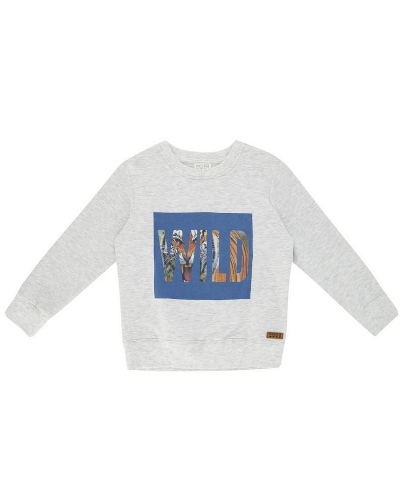 Boys Tucker Sweater -  silvergrey