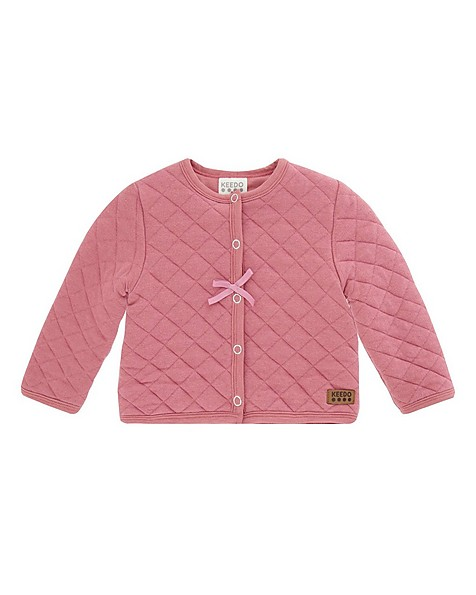 Baby Girls Mala Soft Quilted Jacket -  dustypink