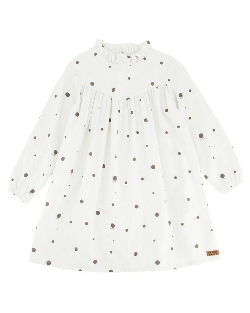 Girls Sandrine Dress  -  milk