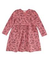Girls Arabella Wrap Dress -  dustypink