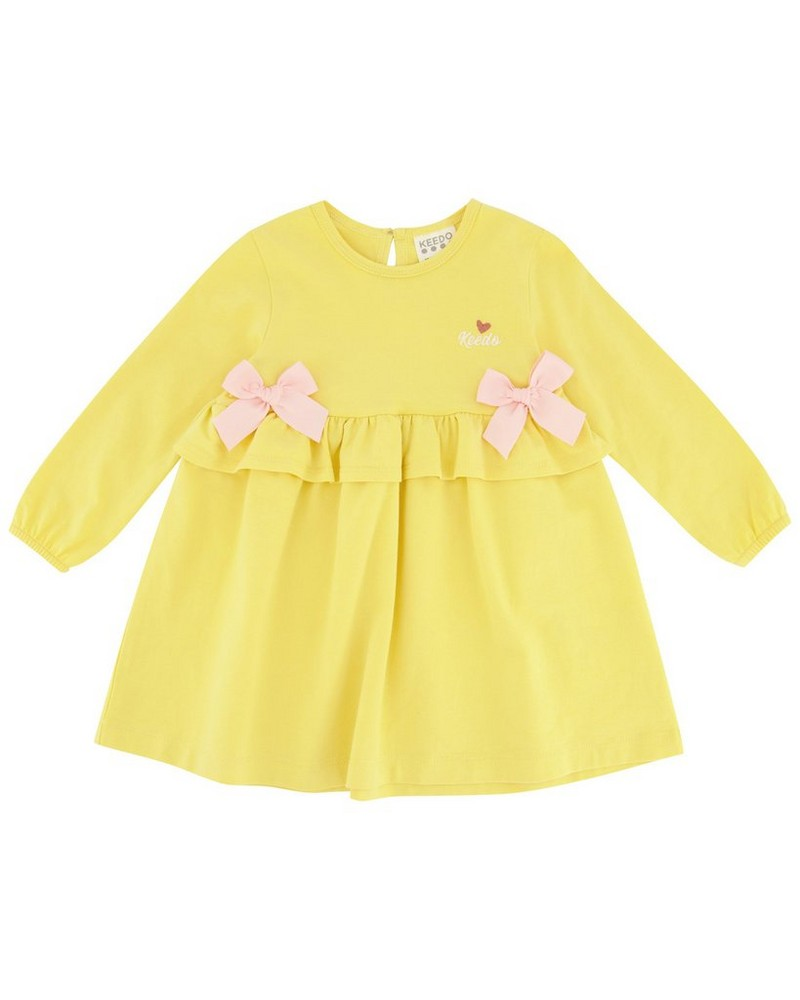 Baby Girls Alessia Dress -  yellow