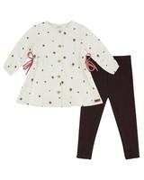 Baby Girls Sandrine Dress Set -  milk