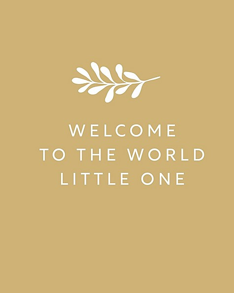 Gift Card - Welcome to the world Little One! -