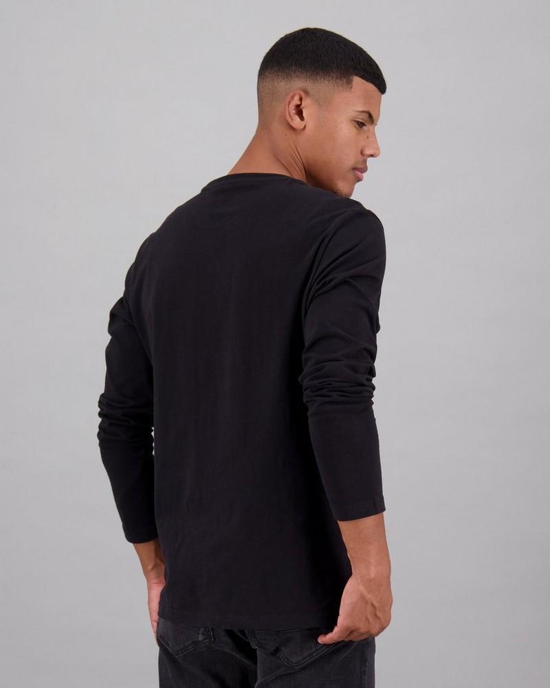 Men's Deon Long Sleeve Standard Fit T-Shirt -  black