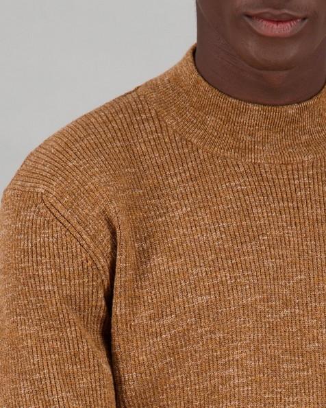 Men's Lambert Polo Neck Pullover -  brown