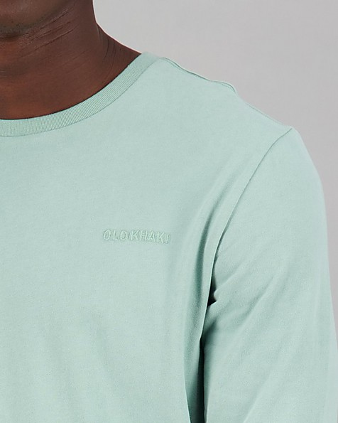 Men's Niall Long Sleeve Relaxed Fit T-Shirt -  sage