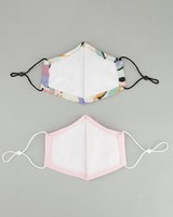 2-Pack Abstract Fabric Face Masks -  milk