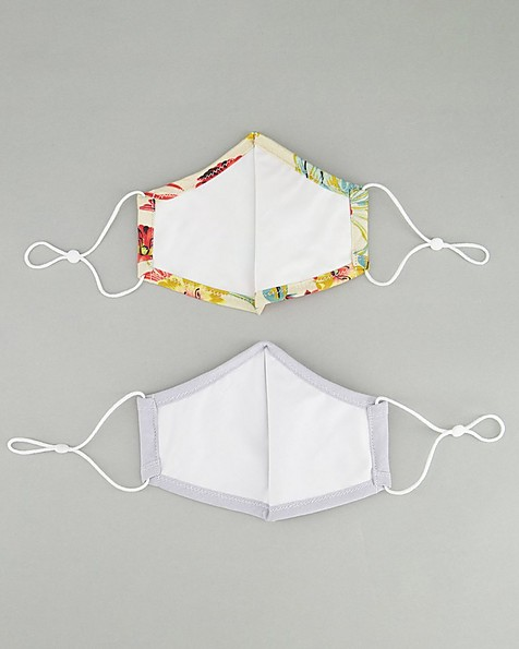 2-Pack Floral Fabric Face Masks -  stone