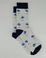 Men's Petar Palm Tree Sock -  grey
