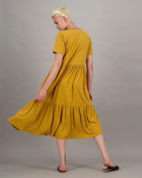 Women's Julia Tiered Dress -  ochre
