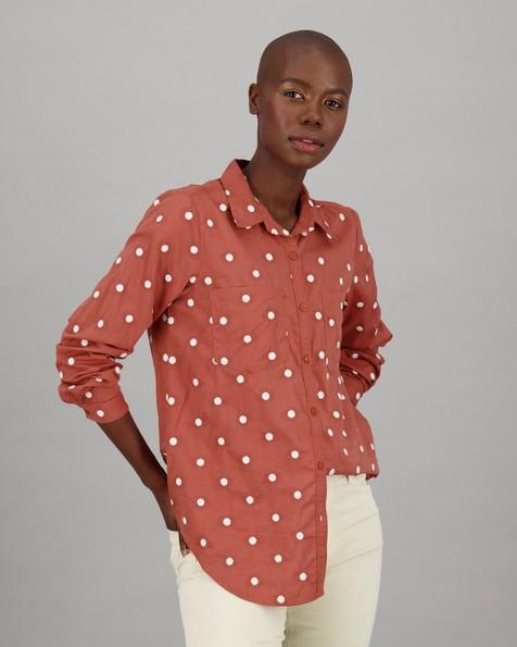 Women's Evie Shirt -  rust
