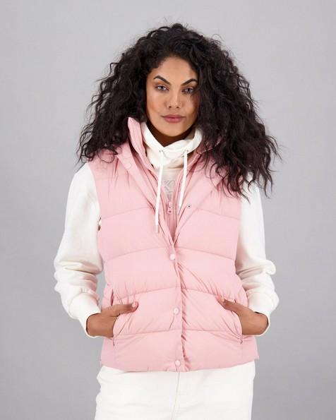 Women's Cassie Sleeveless Puffer Jacket -  pink