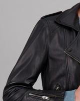Women's Yasmin Leather Jacket -  black