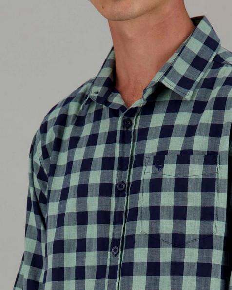 Men's Fabio Slim Fit Shirt -  green