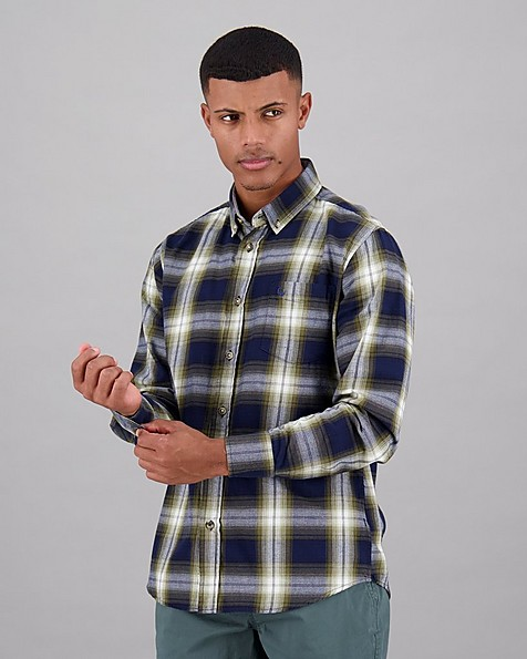 Men's Azi Slim Fit Shirt -  navy