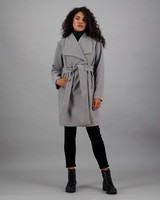Women's Mieke Melton Coat -  lightgrey