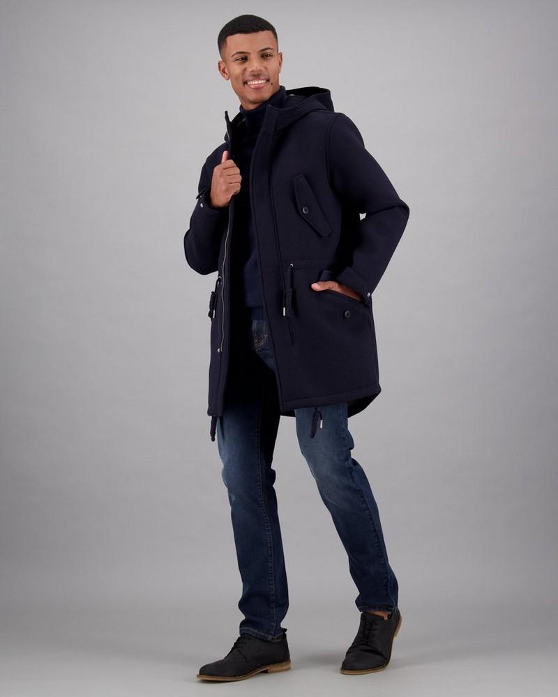 Men's Pedro Parka Jacket -  navy