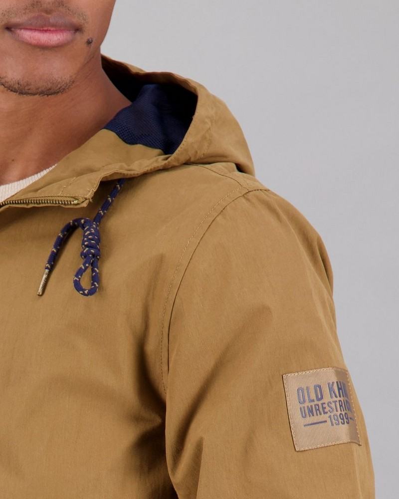 Men's Farrel Windbreaker Jacket -  brown