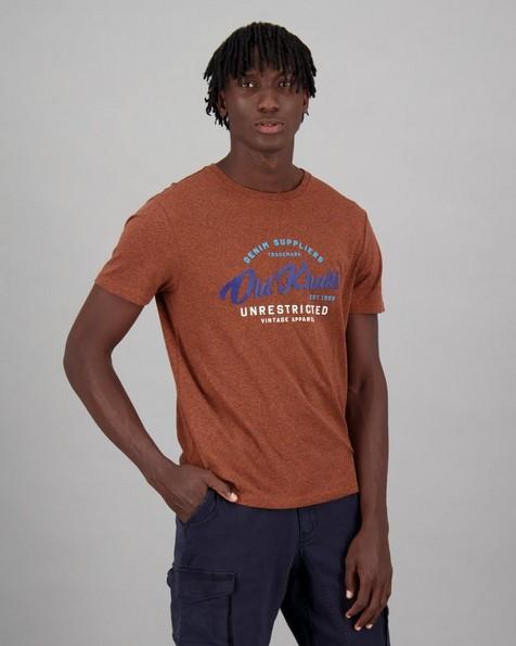 Men's Dan Standard Fit T-Shirt -  orange