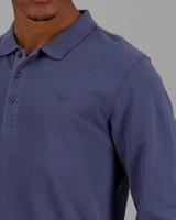 Men's Willis Long Sleeve Standard Fit Golfer -  midblue