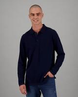 Men's Willis Long Sleeve Standard Fit Golfer -  navy