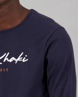 Men's Zane Long Sleeve Standard Fit T-Shirt -  navy