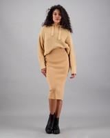 Women's Lena Knitted Skirt -  oatmeal