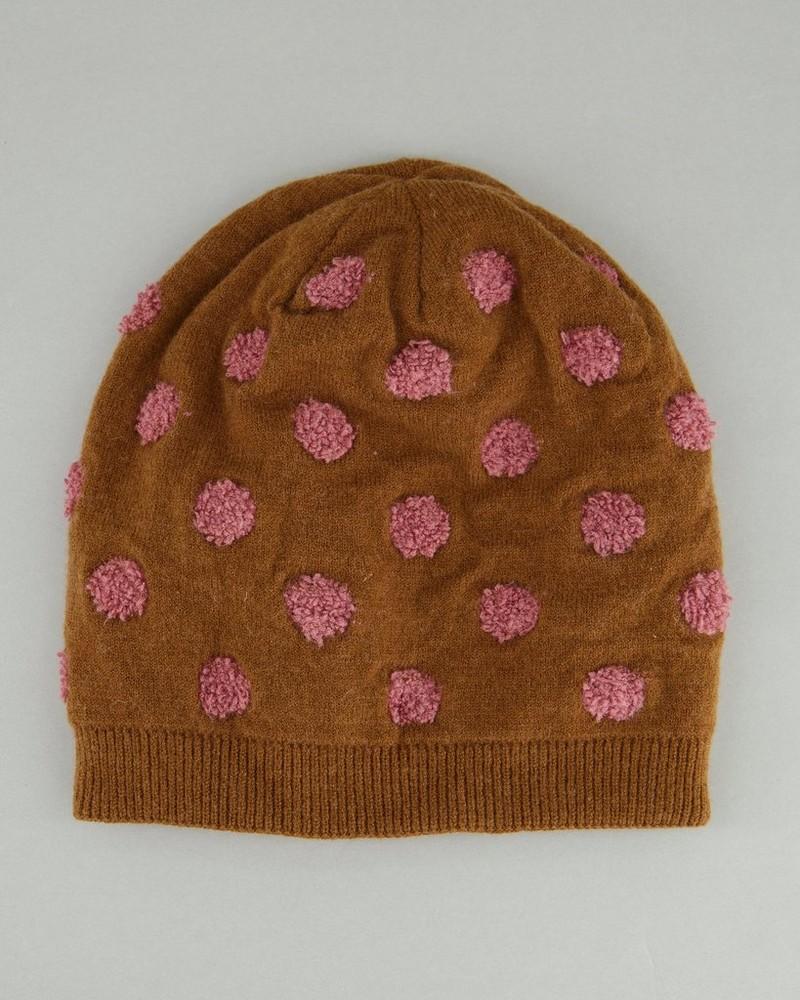 Women's Isla Dotted Beanie -  brown