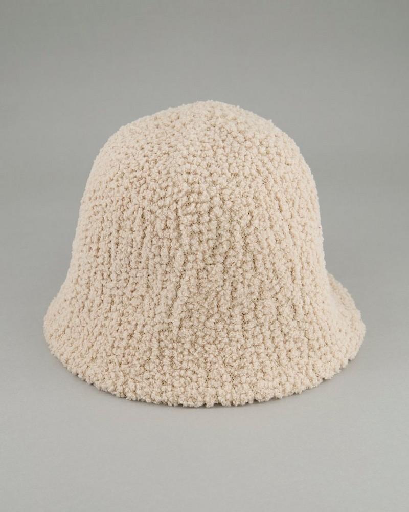 Women's Lulu Chenille Bucket Hat -  oatmeal