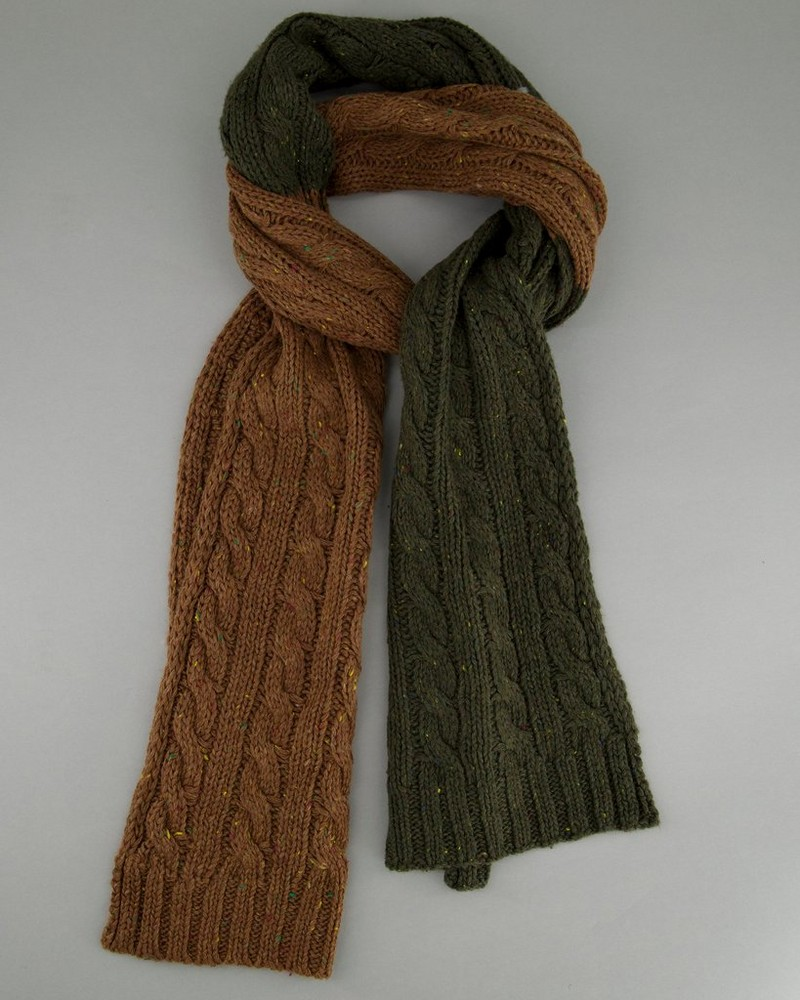 Men's Watson Two-Toned Scarf -  olive