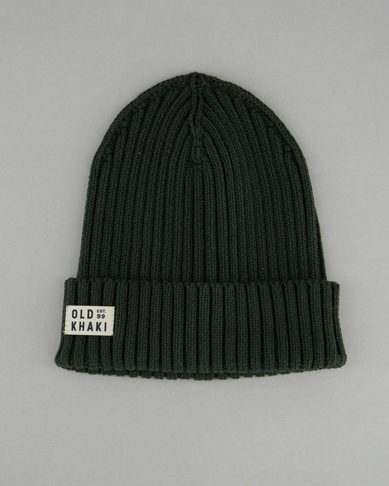 Men's Rex Ribbed Beanie -  darkgreen