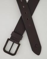 Men's Ranger Leather Belt -  charcoal