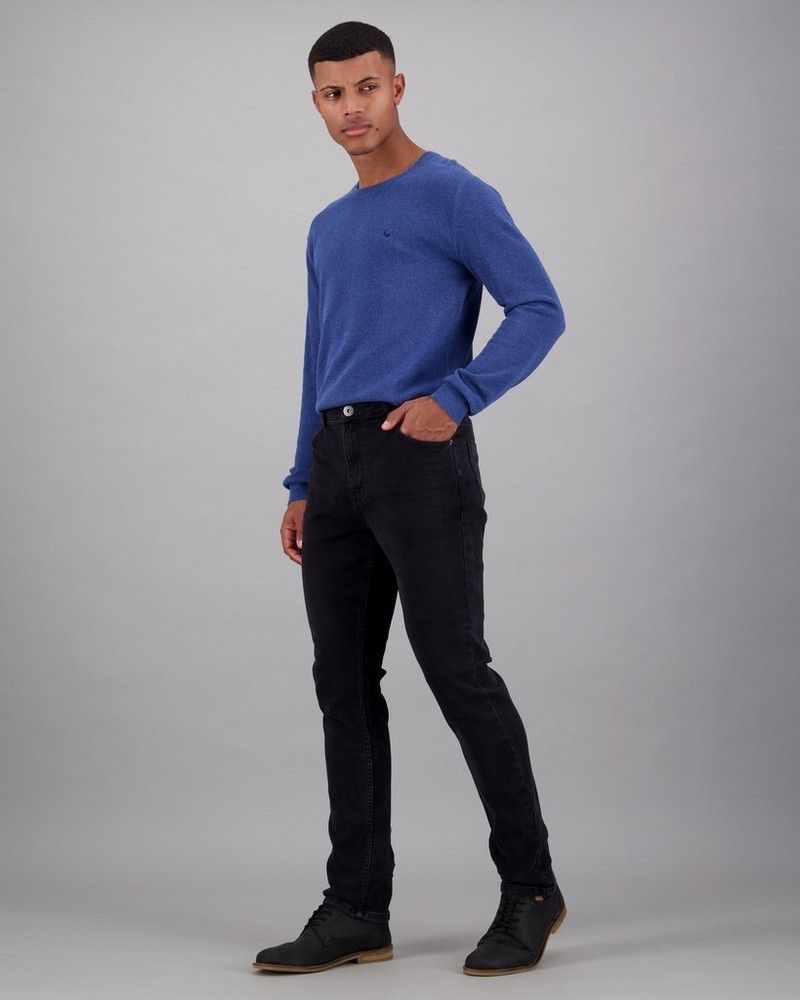 Men's Joel 34 Skinny Leg Denim -  black