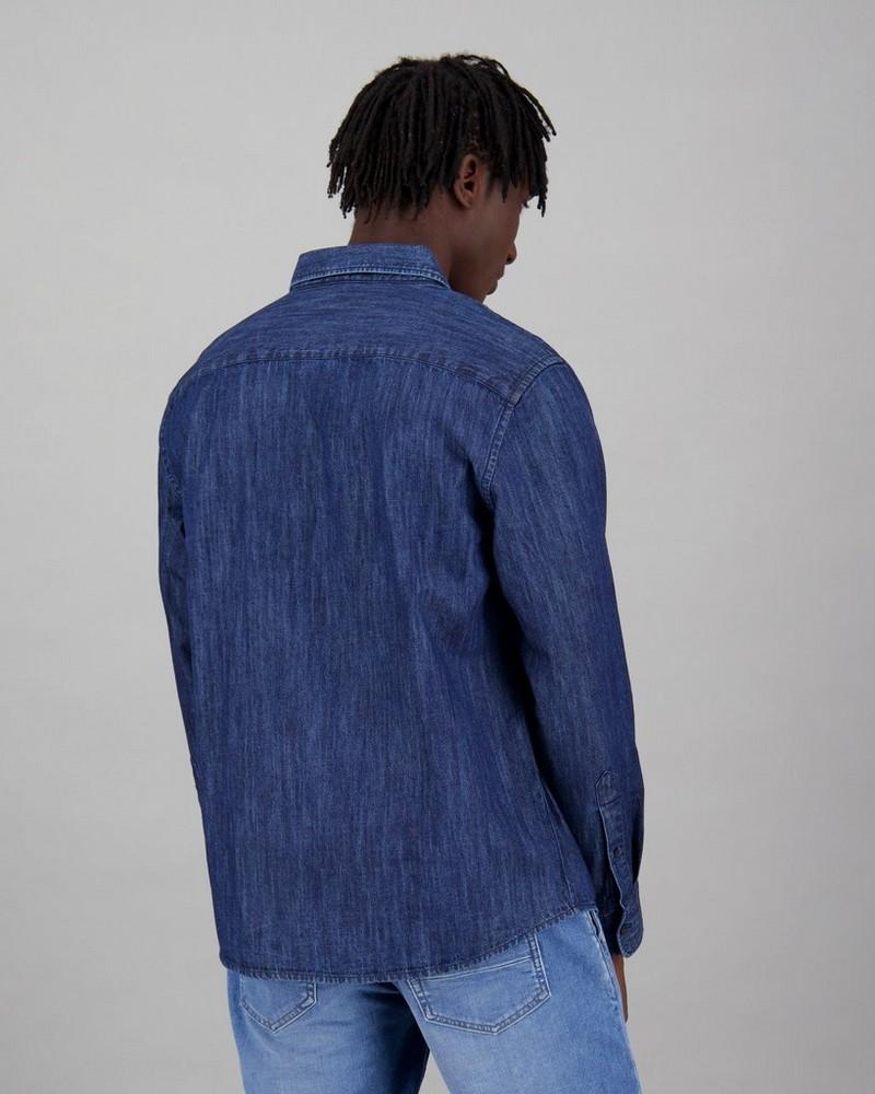 Men's Juan Regular Fit Denim Shirt -  indigo