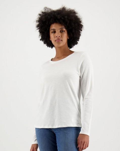 Women's Elise Long Sleeve T-Shirt -  white