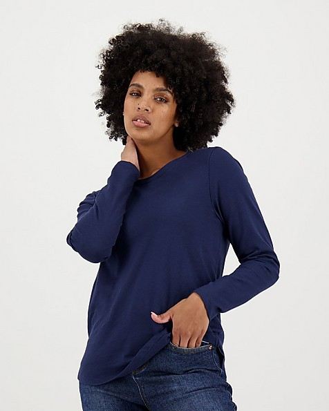Women's Elise Long Sleeve T-Shirt -  navy