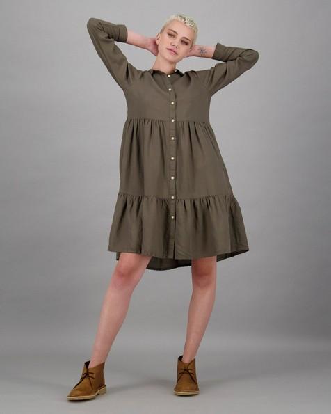 Women's Blakely Shirt Dress -  lightolive