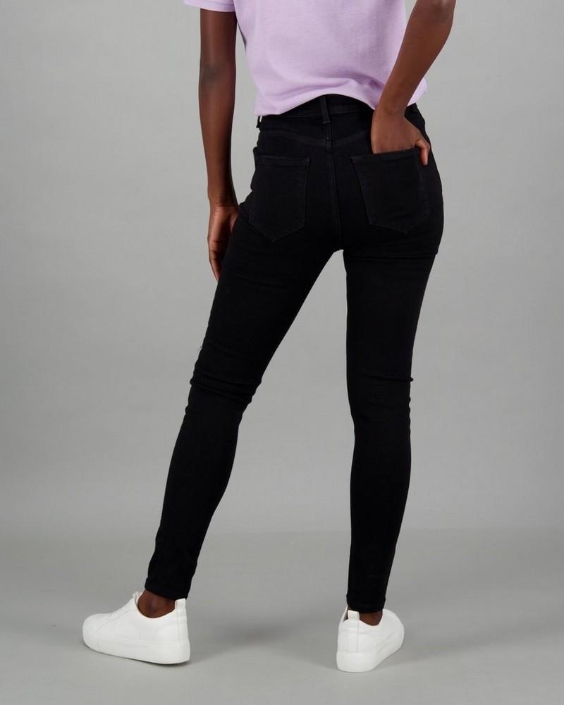 Women's Liv Ripped Skinny Denim -  black