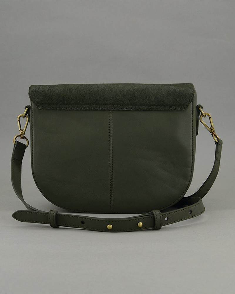 Women's Tundra Leather Bag -  green