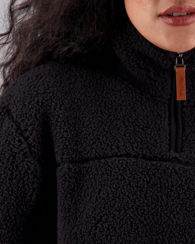 Women's Ophelia Sherpa Sweat -  black