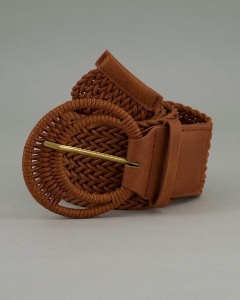 Women's Jayda Woven Belt -  brown