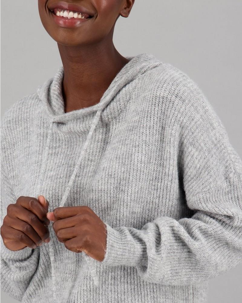 Women's Esme Knitted Hoodie -  lightgrey