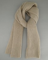 Men's  Allan Knitted Scarf -  stone