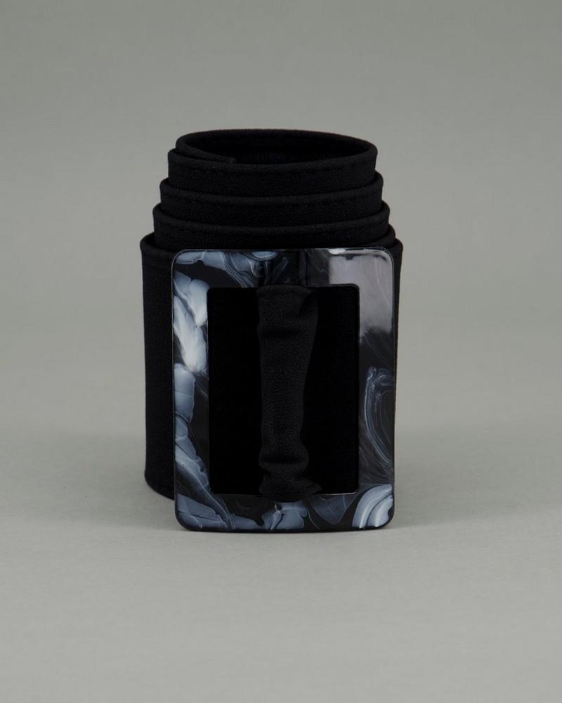 Women's Azariah Textured Belt -  black