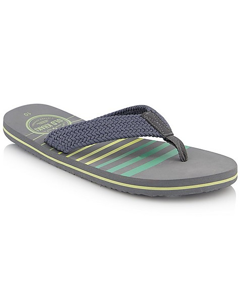 Men's Cam Flip Flop -  grey