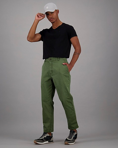 Men's Evan Relaxed Tapered Pants -  olive